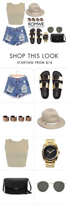 """Без названия #216"" by janeandreeva ❤ liked on Polyvore featuring Maison Margiela, rag & bone, Nixon and Ray-Ban"