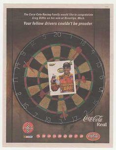 Vintage Coke/ Coca-Cola Advertisements of the Coke Ad, Coca Cola Ad, Vintage Coke, Old Ads, 2000s, Nascar, Greg Biffle, Kurt Busch, Advertising