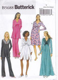 V cou Empire taille tunique ou robe forme ourlet festonné, Option de  superposition de dentelle, col en V robe de soirée, de tirer sur le  pantalon évasé, ... 326d0ad44f7