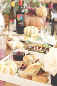 How to host a fall wine & cheese party.