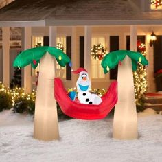 Frozen inflatable Christmas decorations Olaf