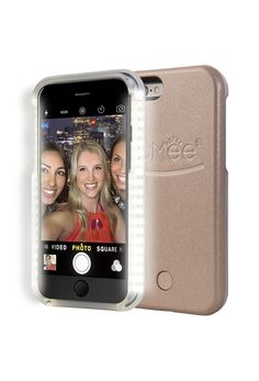 """A <a href=""""http://amzn.to/1r5ujGP"""" target=""""_blank"""">light-up case</a> that will take your selfies to the next level."""