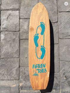 Vintage Nash Fifteen Toes Skateboard