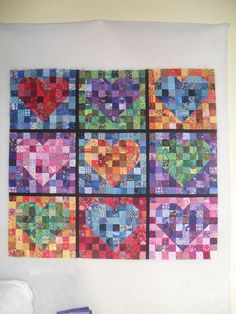 very scrappy quilt made from very small pieces....not sure if I'd have the patience....I do have the pieces.