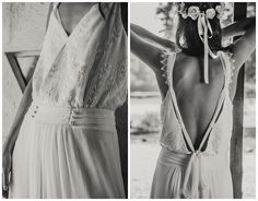 Vestidos de noiva boho da estilista Laure de Sagazan
