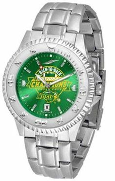 North Dakota State Bison NDSU NCAA Mens Steel Anochrome Watch by SunTime. $86.95. The Competitor AnoChrome With Steel Band is one of the hottest design in watches today! A functional rotating bezel is color-coordinated to compliment your favorite team logo. A durable long-lasting combination nylon/leather strap together with a date calendar round out this best-selling timepiece.AnoChrome Dial OptionThe AnoChrome dial option increases the visual impact of any watch wit...