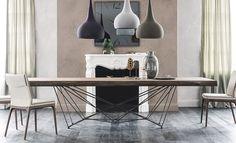 Estas mesas de comedor, son verlas y enamoran. De diferentes materiales, elige la que más te guste #mesasdecomedor #mesas