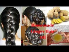 Homemade Ginger Hair Oil For Long, Healthy, Shiny, Smooth & Dandruff Free Hair Excessive Hair Loss, Diy Hair Mask, Hair Masks, Hair Growth Cycle, Hair Issues, Hair Growth Treatment, Hair Loss Women, Prevent Hair Loss, Hair