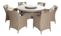 6 seater Round patioIdeal for Conservatory, Patio or Garden FurnitureAvailable in Natural & Ash Grey