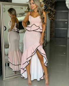Love the contrasting bias trim Casual Summer Outfits, Holiday Outfits, Tango Dress, Nice Dresses, Summer Dresses, Fashion Outfits, Womens Fashion, Dress Patterns, African Fashion