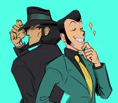 "biggs-regretti: ""Quite the pair. Lupin The Third, Geek Culture, Kaito, Large Art, Community Art, Art Blog, Art Reference, Disney Characters, Fictional Characters"