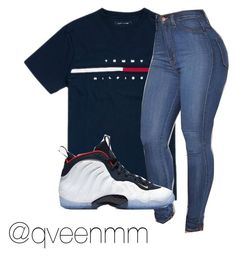 A fashion look from September 2017 featuring cotton shirts and skinny jeans. Browse and shop related looks. Swag Outfits For Girls, Teen Girl Outfits, Cute Swag Outfits, Teen Fashion Outfits, Trendy Outfits, Summer Outfits, Jordan Outfits, Nike Outfits, College Outfits