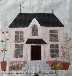 Scrap,quilt and stitch: Grandma's garden, bloc 4