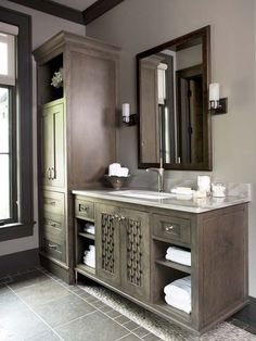 The Cliffs at Mountain Park   Private Residence  Refined Mountain Home   Bathroom that reflects its natural surroundings