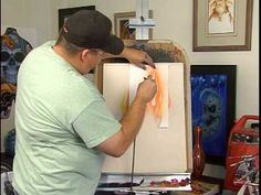 How to Make & Use Airbrush Stencils : Using a Novice Airbrush Stencil fo...