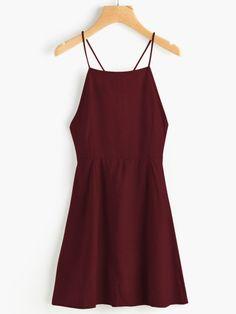 Criss Cross Lace Up Open Back Cami DressFor Women-romwe