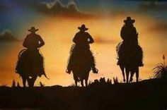 The three men at sundown.... So cute and adorable