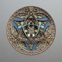 3D Laser Cut Paper - Geometric Art by Eric Standley