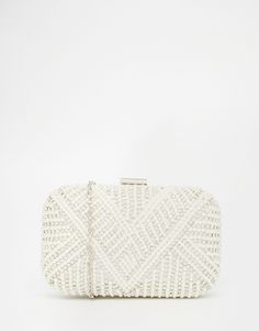 Image 1 of ALDO Box Clutch With Crystal Detail