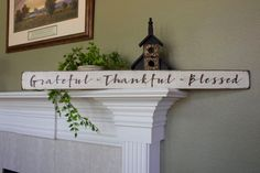 """FOLLOW ME ON INSTAGRAM @tinsheepshop. Grateful Thankful Blessed 36"""" Wood Sign, Wooden Sign, Wedding Gift, Farmhouse Style, Rustic Distressed Sign, Shabby Chic Sign, Inspirational by TinSheepShop on Etsy"""