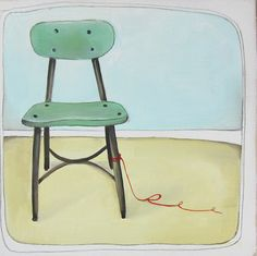 lovely little chair painting by michele maule