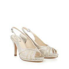 Debut Gold mesh wide fit high sandals | Debenhams