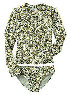 Floral rashguard two-piece   Gap