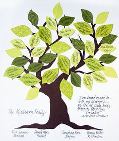 DIY Family Tree: The kiddies will have tons of fun creating a one-of-a-kind masterpiece by gluing all of their leaf-latives to the family tree! Source: Cinthya Jan