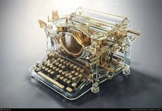 transparent typewriter
