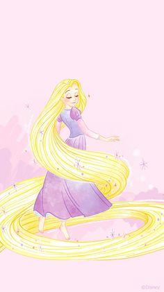 Disney Princess Rapunzel, Disney Princess Drawings, Disney Tangled, Disney Drawings, Disney Pixar, Iphone Background Disney, Disney Phone Wallpaper, Gold Abstract Wallpaper, Princess Illustration
