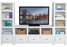 Eldon Square White 3 Pc Wall Unit. $799.99. 98W x 19D x 64H. Find affordable Wall Units for your home that will complement the rest of your furniture.