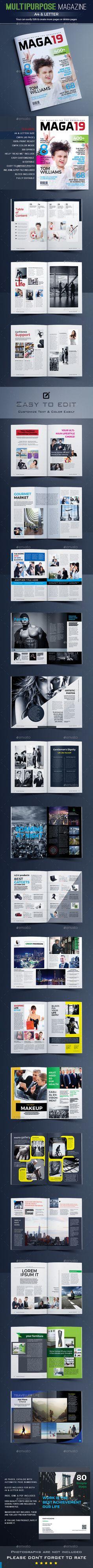 Multipurpose Magazine Template - Magazines Print Templates Download here : https://graphicriver.net/item/multipurpose-magazine-template/19603365?s_rank=27&ref=Al-fatih