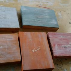 Working on another group of Ball Jar Wall Decor, using L'essentiel Botanics Furniture paint color called Scarlet.