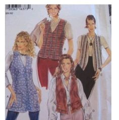 Simplicity New Look Sew Pattern 6301 8-18 Button front - VEST 4 Variation