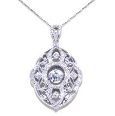 (http://shop.shinjewelers.com/sterling-silver-rhythm-of-love-cz-oval-link-necklace-83210024/) #rhythmoflove #necklace #gifts