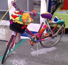 La folie du tricot, découvrez le Yarnbombing !