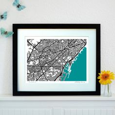 Barcelona Art Map - Limited Edition Contemporary Giclée Print