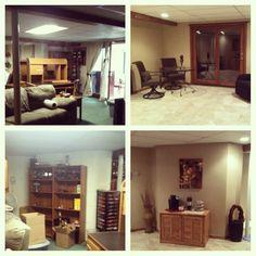 Family room basement makeover