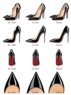Christian Louboutin Hot Chick vs. So Kate vs. Pigalle Here is the comparison…