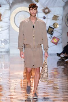 Versace Men Fashion Show 2015 Look Versace Mens