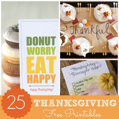 Free Thankful Banner Printable - Pretty My Party #free #thankful #thanksgiving #banner #printable