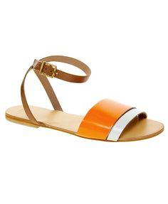 Sandales plates en cuir Asos