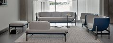 Capsule Bench | Soft seating programme from Casala's Palau collection Soft Seating, Extra Seating, Contract Furniture, Office Furniture, White Washed Oak, Interior Design Awards, Lounge, Solid Oak, Upholstery