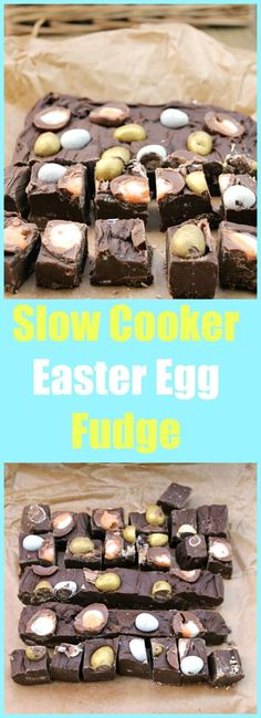 Use up your Easter chocolate and feed your Cadbury Creme egg addiction with my slow cooker Easter Egg fudge, a chocolatey indulgence! Best Dessert Recipes, Fun Desserts, Sweet Recipes, Holiday Recipes, Delicious Desserts, Yummy Food, Fudge Recipes, Candy Recipes, Slow Cooker Fudge