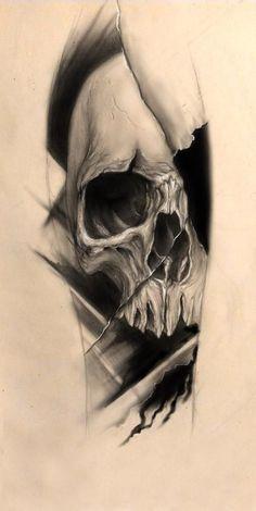 skull tattoos skull tattoo design by bleftattoo on DeviantArt Skull Candy Tattoo, Animal Skull Tattoos, Bird Skull Tattoo, Bull Skull Tattoos, Small Skull Tattoo, Skull Tattoo Design, Tattoo Designs, Skull Sleeve Tattoos, Tattoo Black