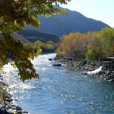 The Panjshir River meanders through the Panjshir Valley