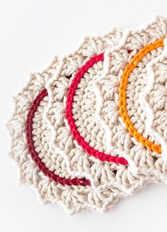 DIY Crocheted Coasters.