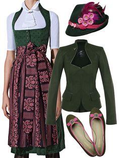 Grünes Trachten Outfit mit dem GOTTSEIDANK Dirndl