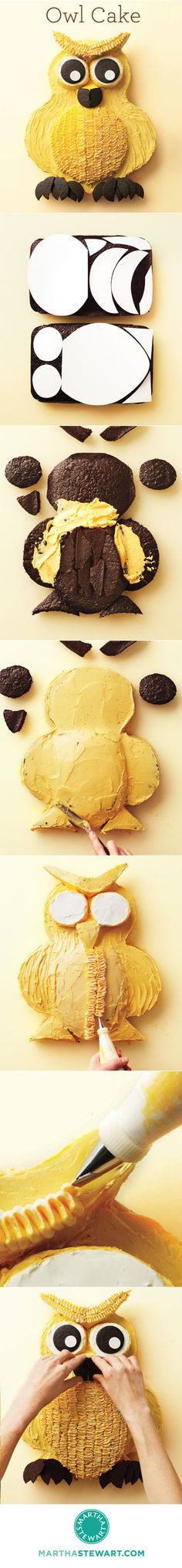 Owl Cake How-To-- sooo whoo is making me this for my birthday? @Donnamarie Mccabe @Erika Sorvino @Jackie Mower