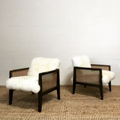 Armchairs Model 5513, Pair by Edward Wormley for Dunbar